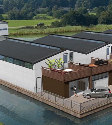 Boathouse with garage box - Heegerland